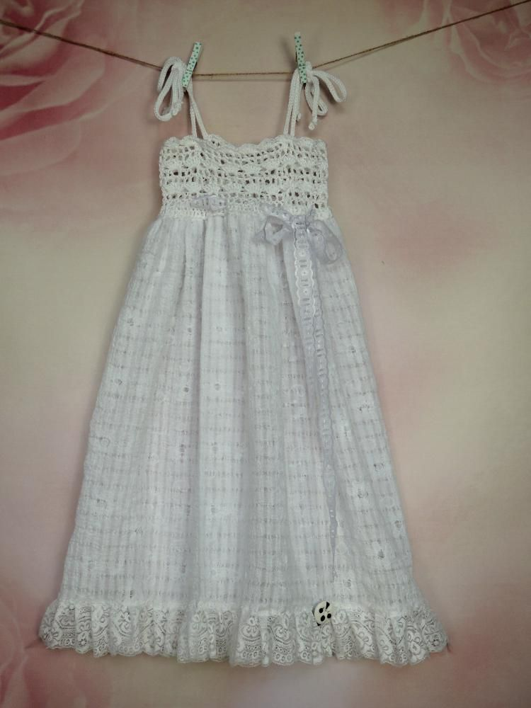 Detské oblečenie - Biele šaty a la romantica - 3748504_