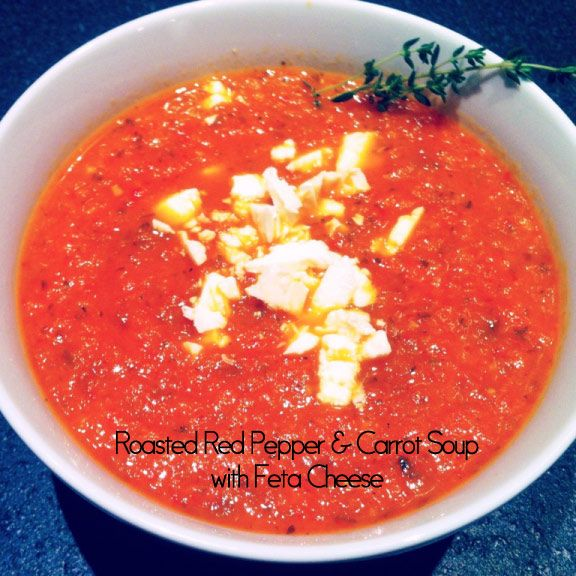 Roasted Red Pepper Soup with Feta Cheese Soups Pinterest