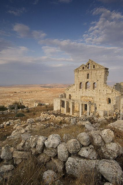 Baqirha Bizantin Church, Dead Cities, 8 Unesco World Heritage Sites near Aleppo, Syria (by JC Richardson).