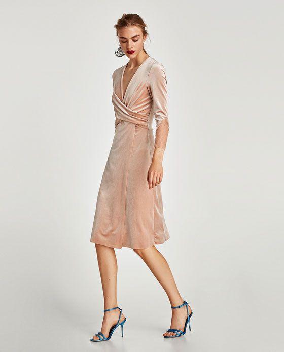 e5153c395a5a Image 1 of CROSSOVER VELVET DRESS from Zara   Flower girl   Winter ...