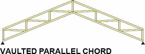 Vaulted ceiling truss design for Granite overhang limit