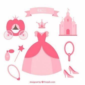 Elementos de princesa carroza