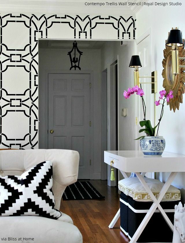 Update Your Home With Trendy Stenciled Walls Diy Home Decor Ideas