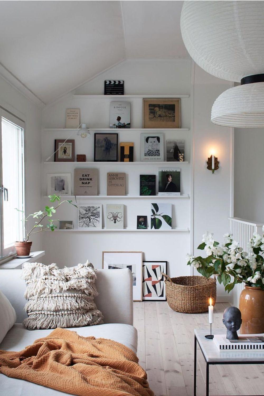 Déco mur blanc : idées originales en 15  Idee salon, Deco mur