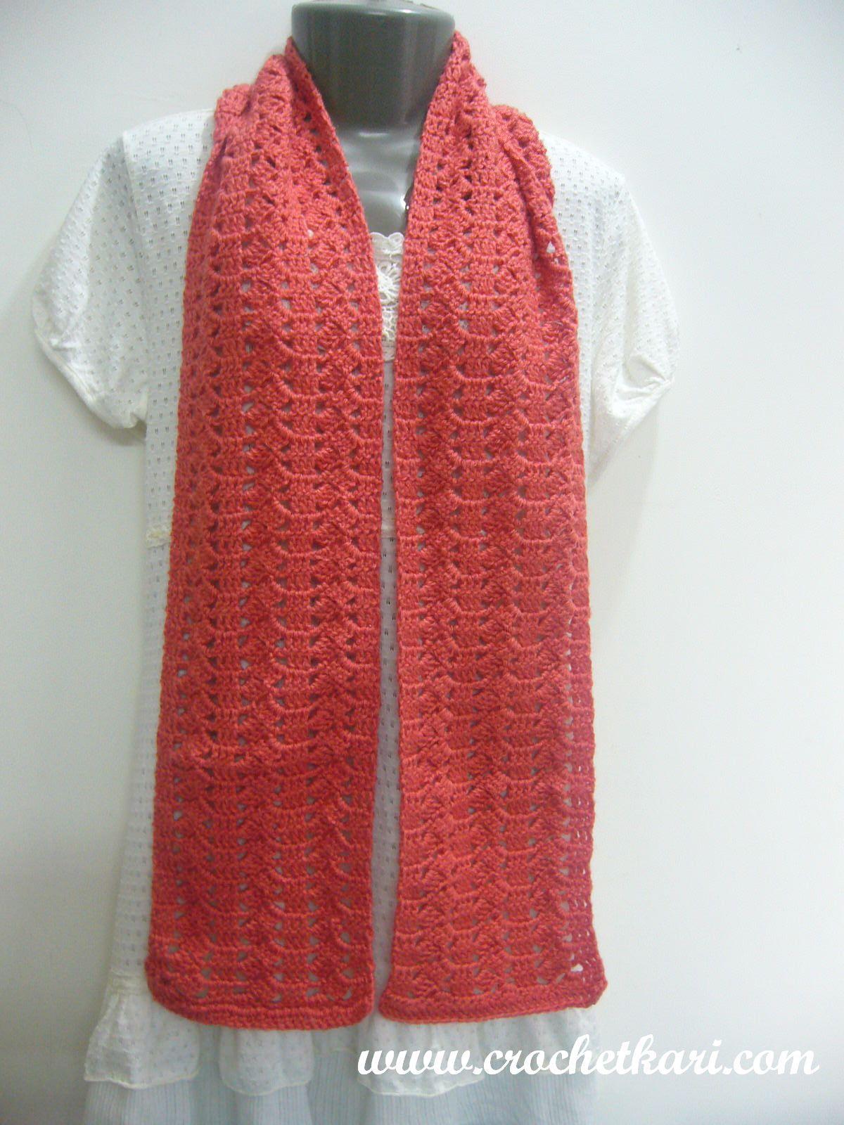 Crochetkari: Free Crochet Pattern - Slant n Stripe Scarf   HATS ...