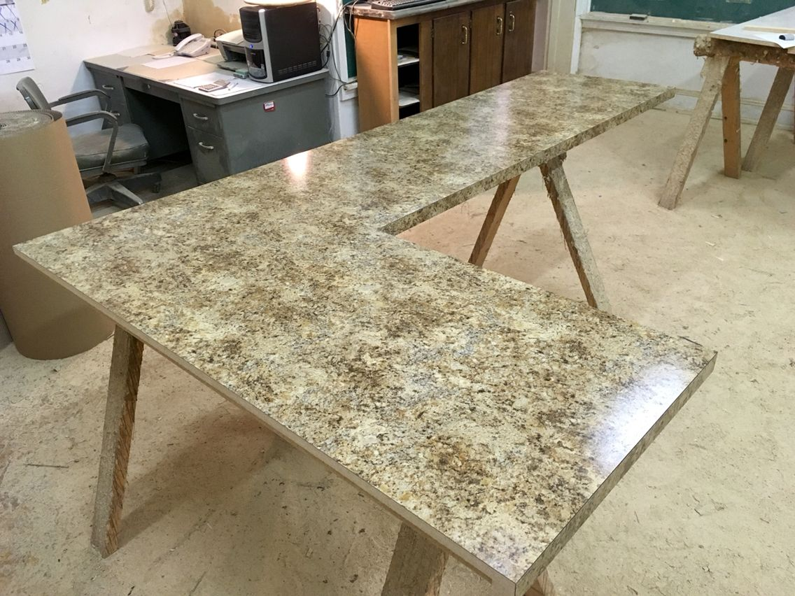 Giallo Granite Etchings Finish Square Edge Profile Square Edge