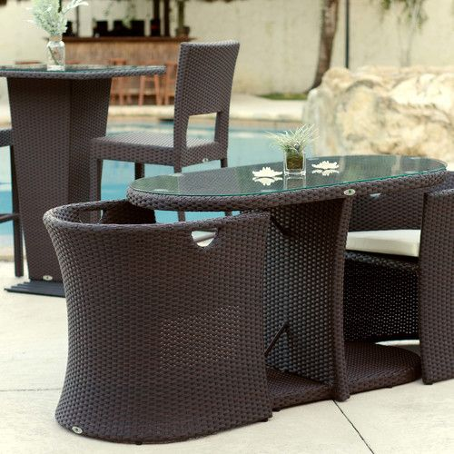 Boynton 3 Piece Outdoor Dining Set