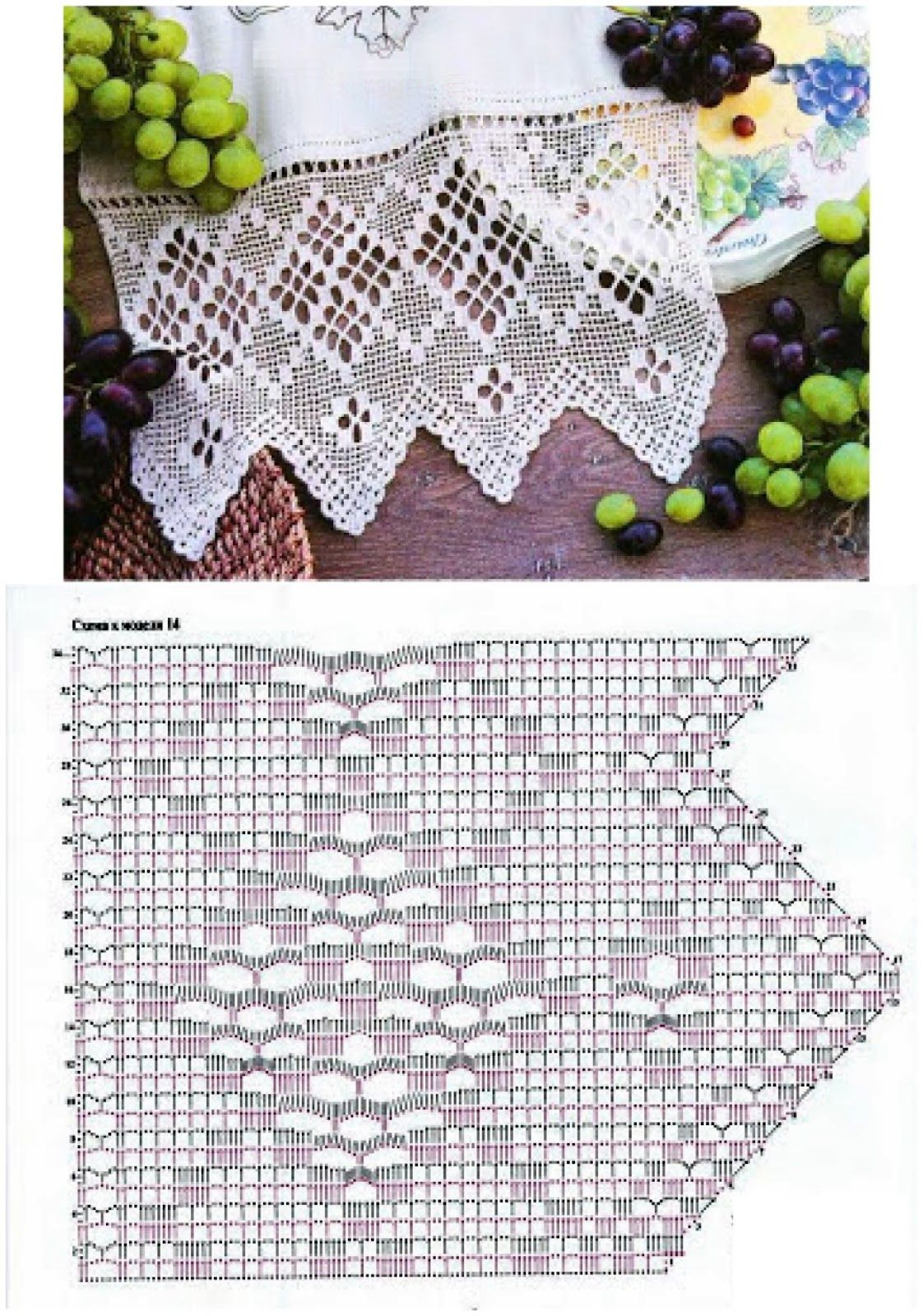 Filet crochet. Ganchillo punto de red | bicos de crochê | Pinterest ...
