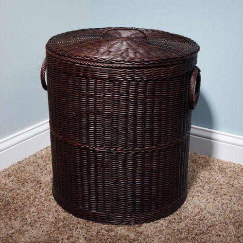 18 Ribbed Dark Brown Rattan Laundry Basket By Whittington Collection 149 95 Regenerate Any Room With The S Vivacious