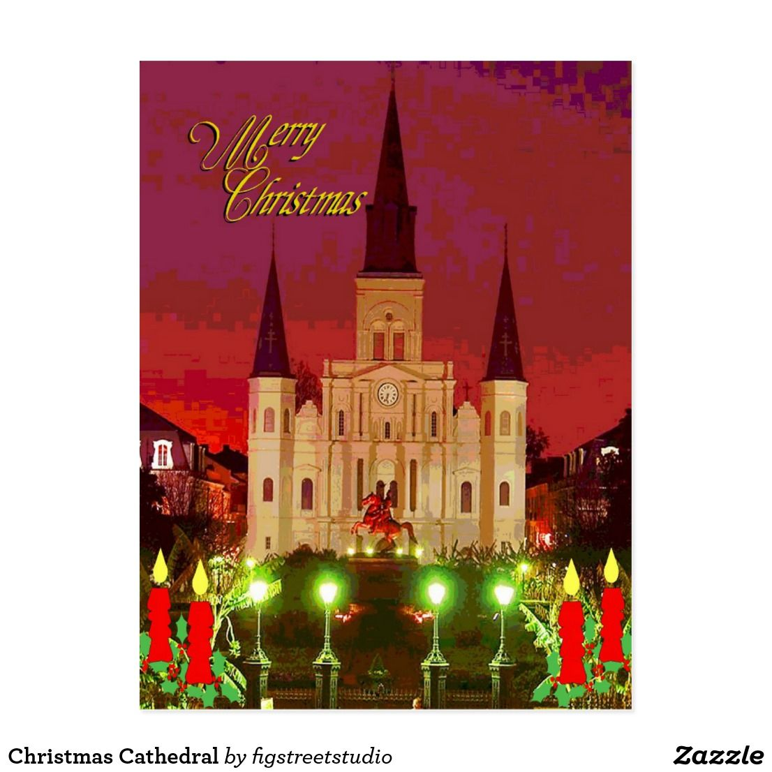 Christmas Cathedral Postcard Cathedrals
