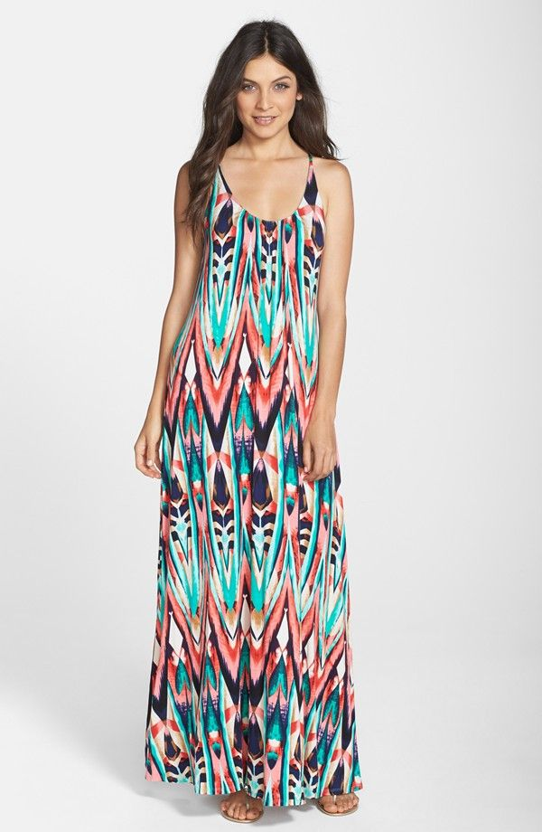 Print Jersey A-Line Maxi Dress (Nordstrom Exclusive)