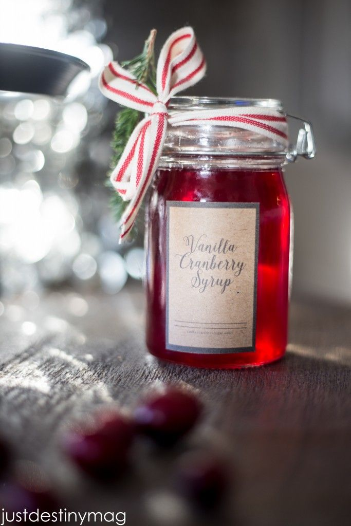 DIY Cranberry Syrup Gift with Vanilla from MichaelsMakers Just Destiny