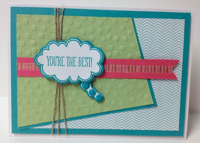 You're the Best!-#JBStampers, FMS126 challenge template and one of my March class cards
