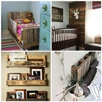a collection of #repurposed and #recycled #pallets.