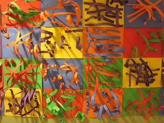 WES Kindergarten Art: SCULPTURES and COMPLEMENTARY COLORS!