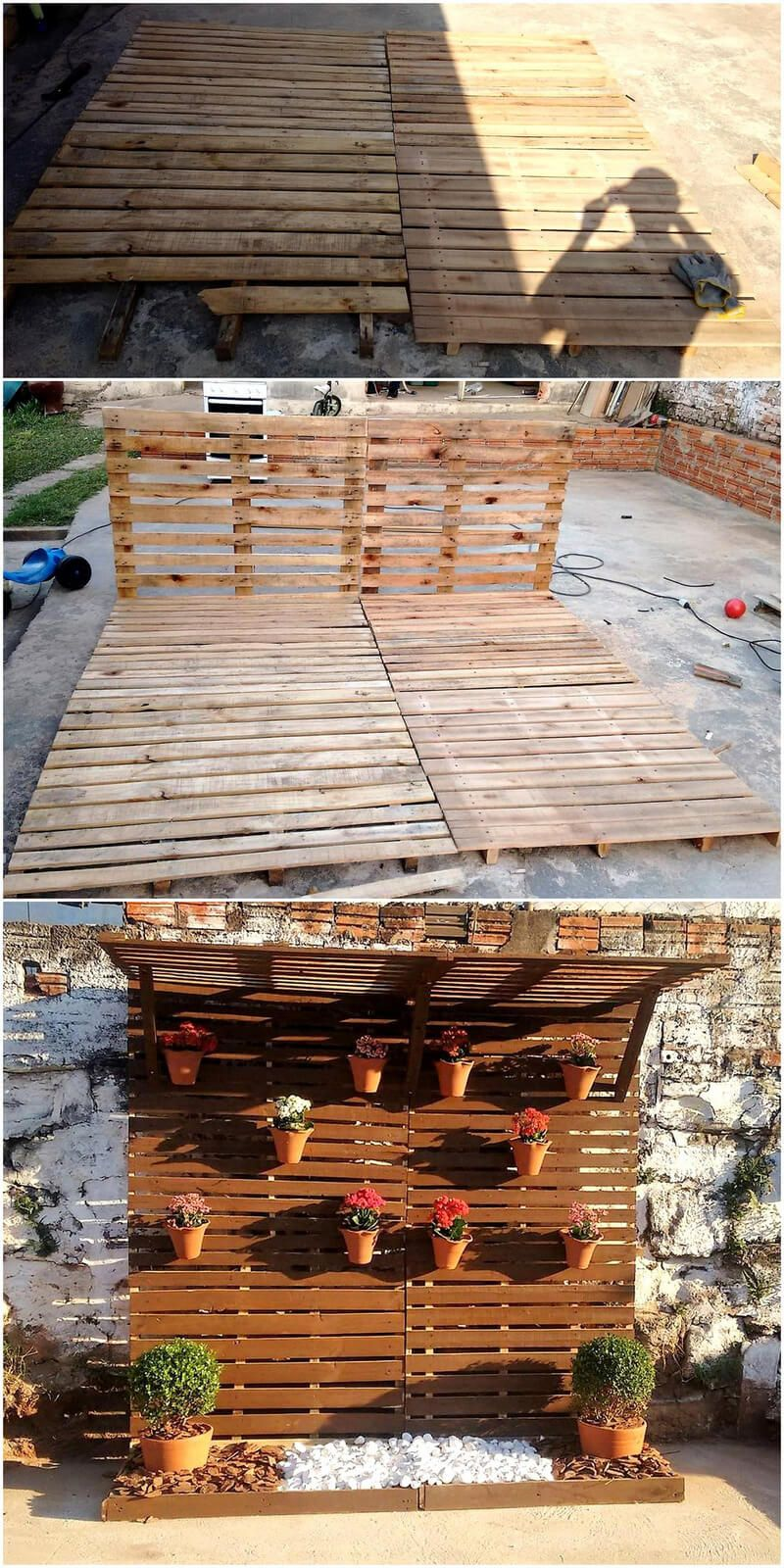 Diy ideas for recycled pallets reusing diy pallet wall