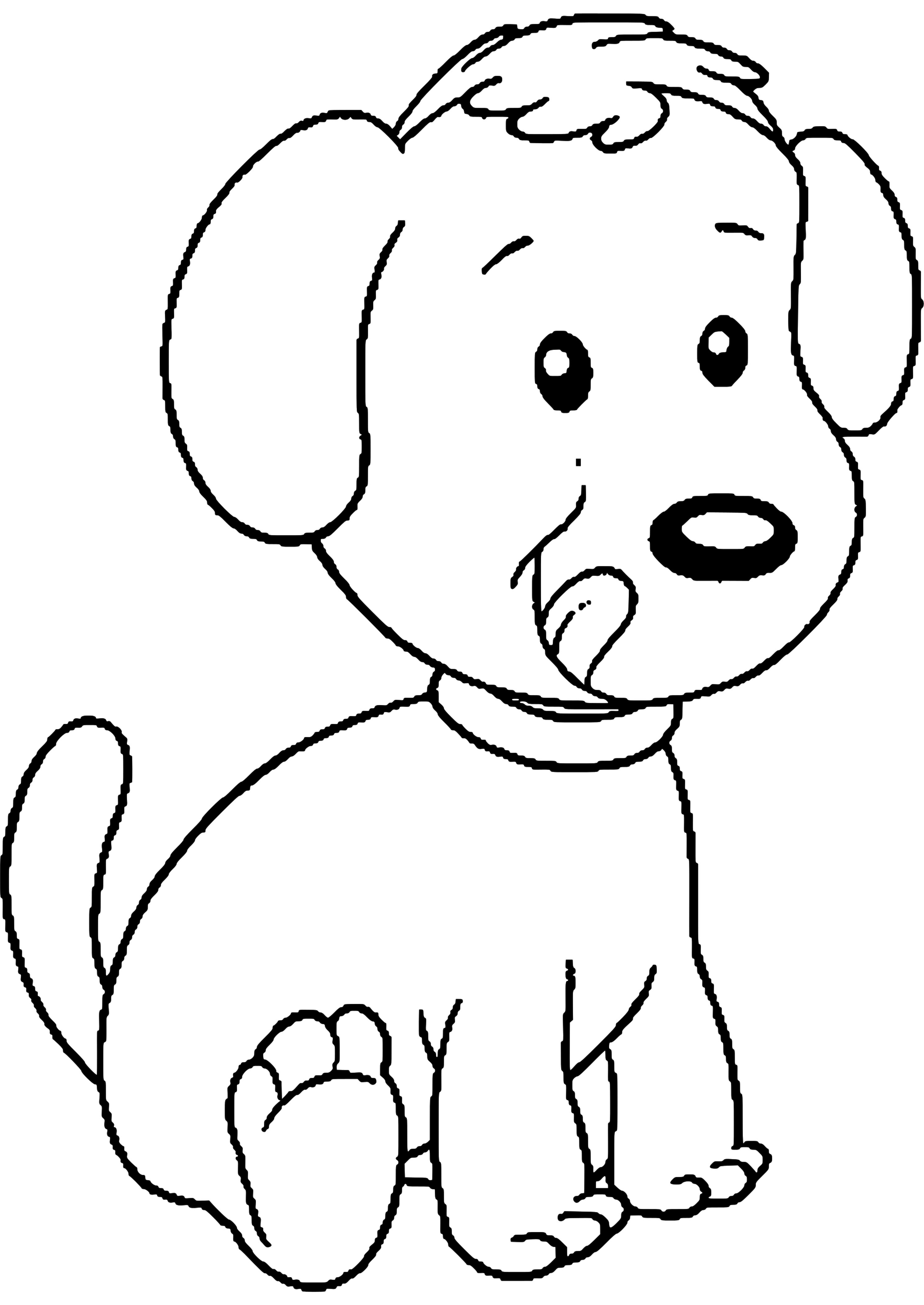 Ausmalbilder Tiere Wiese   Dog coloring page, Puppy ...