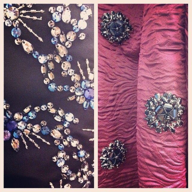 The crystal motifs on these Dior and Erdem dresses in our studio http://instagram.com/p/ud3494sBOQ/