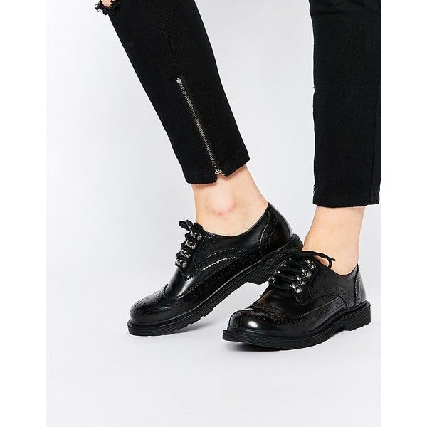 Asos Womens Metric Broguesv Black - Loafers