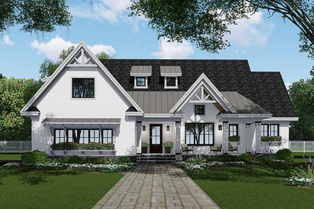 House Plan 098-00308 – Modern Farmhouse Plan: 2,751 Square Feet, 4 Bedrooms, 3.5 Bathrooms