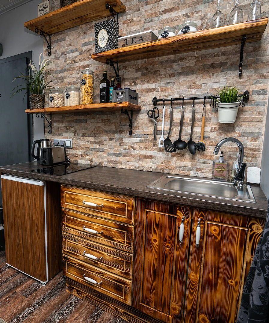 Panorama Glass Lodge Tiny Living Rustic Kitchen Kitchen Furniture Design Rustic Kitchen Cabinets