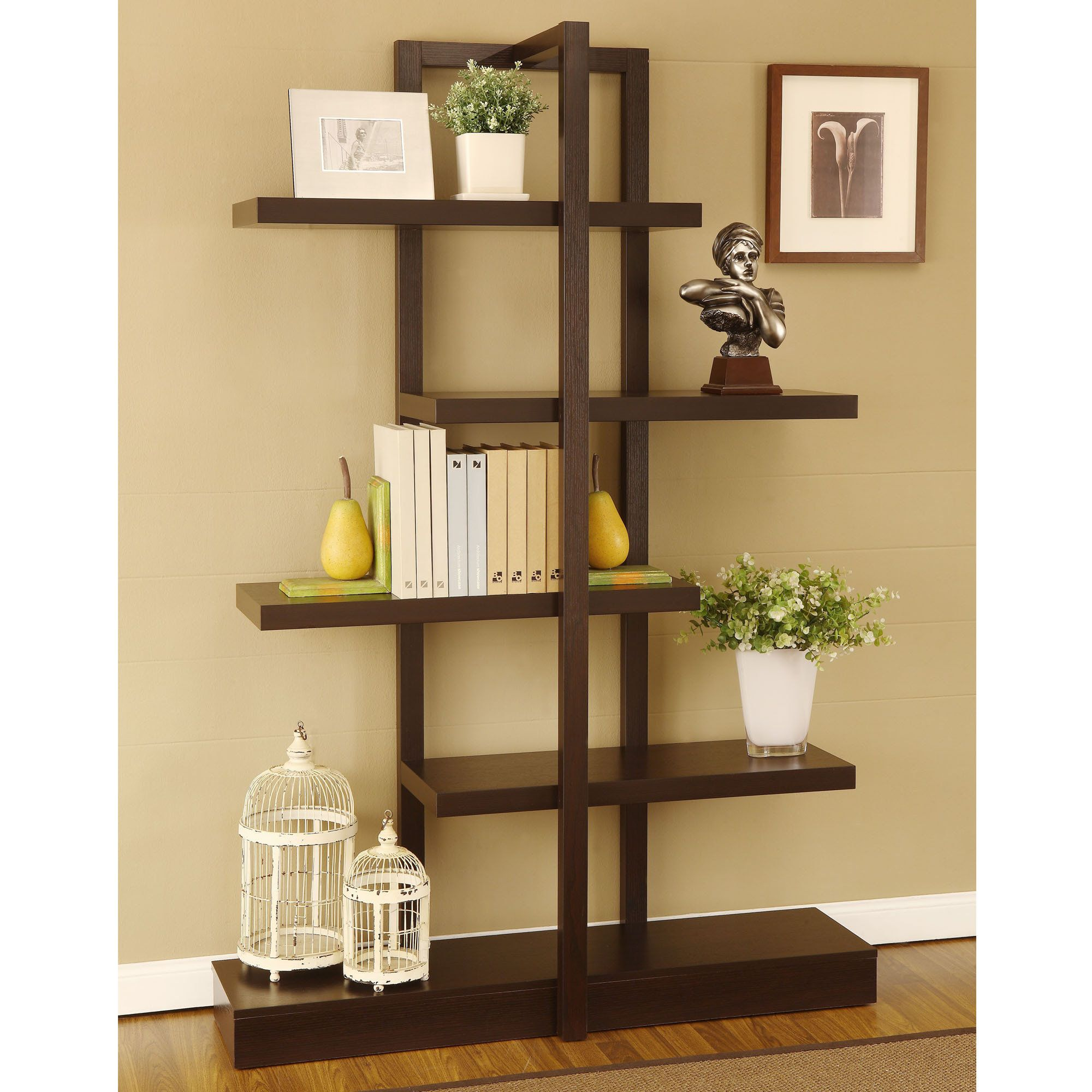 display shelves for collectibles | Home Treyton Shelving Display ...
