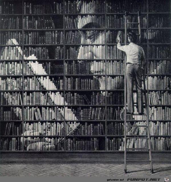 Lange Weile In Der Buecherei Jpg Von Funny53 Books To Read Book Art Library Books