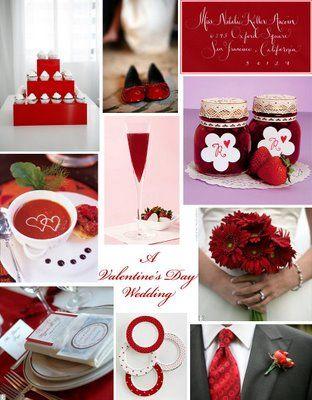 Valentine S Day Wedding Theme Red Pinterest Valentines Day