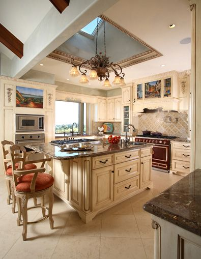 Formal French Chateau- Kitchen « Culbertson Durst Interior Design ...