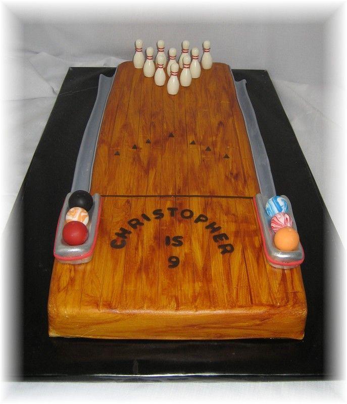 Bowling Lane Long Bowling Cake Bowling Birthday Cakes Lane Cake