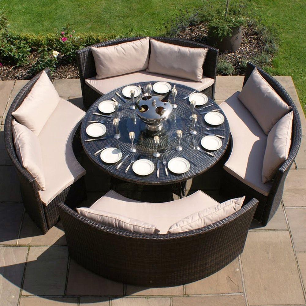 Maze Rattan Dallas Sofa Garden Furniture Set