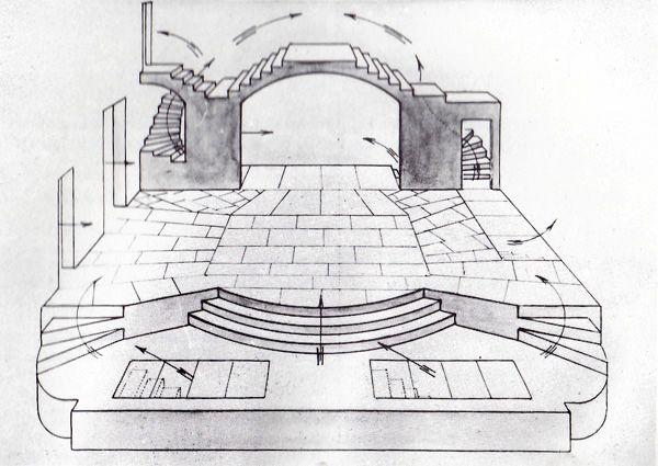 Th tre du vieux colombier dessin de louis jouvet - Dessin de theatre ...