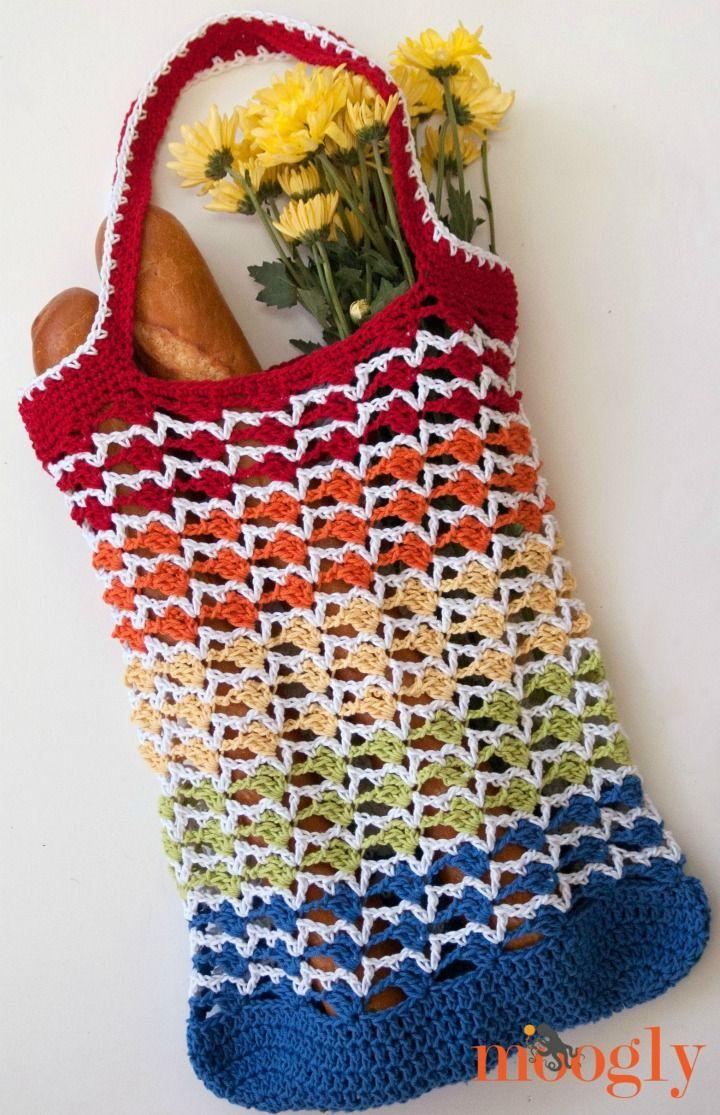Rainbow Runner Tote Bag   Free crochet, Rainbows and Crochet