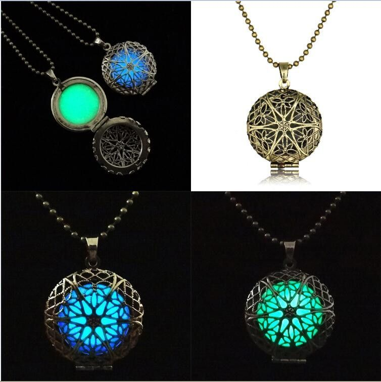 Pretty Magic Fairy Locket Necklace Chain Glow In The Dark Gifts