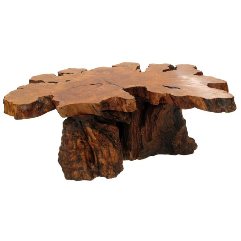 Incredible Organic Burlwood Redwood Coffee Table 1960S In 2019 Beutiful Home Inspiration Cosmmahrainfo