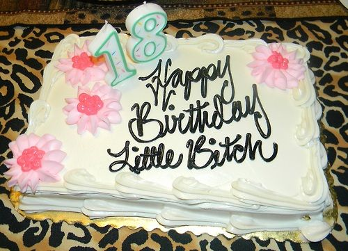 Birthday Cake For Little Sister ~ Looks like a cake we would make for each other @roma stetzel i