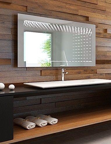 Lustro łazienkowe 3d Illusion Led Z Oświetleniem Led Mirror Two Way Mirror Mirror Panels
