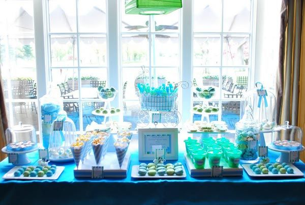 Bump Smitten: Real Baby Shower: Green U0026 Blue Baby Carriage....I Like The  Colors, But Know That We Would Have Real Food Instead Of A Bunch Of Sugar.