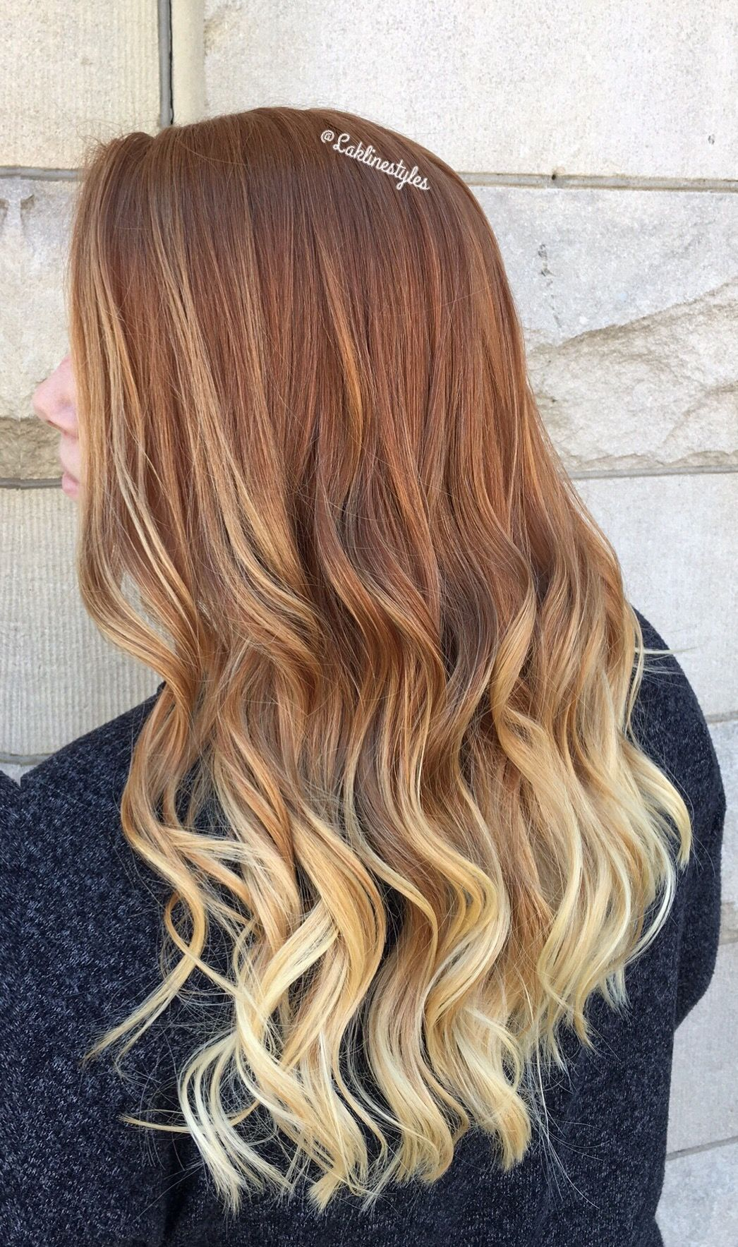 Natural Red Ombre Blonde Red Blonde Hair Ombre Hair Blonde Natural Red Hair