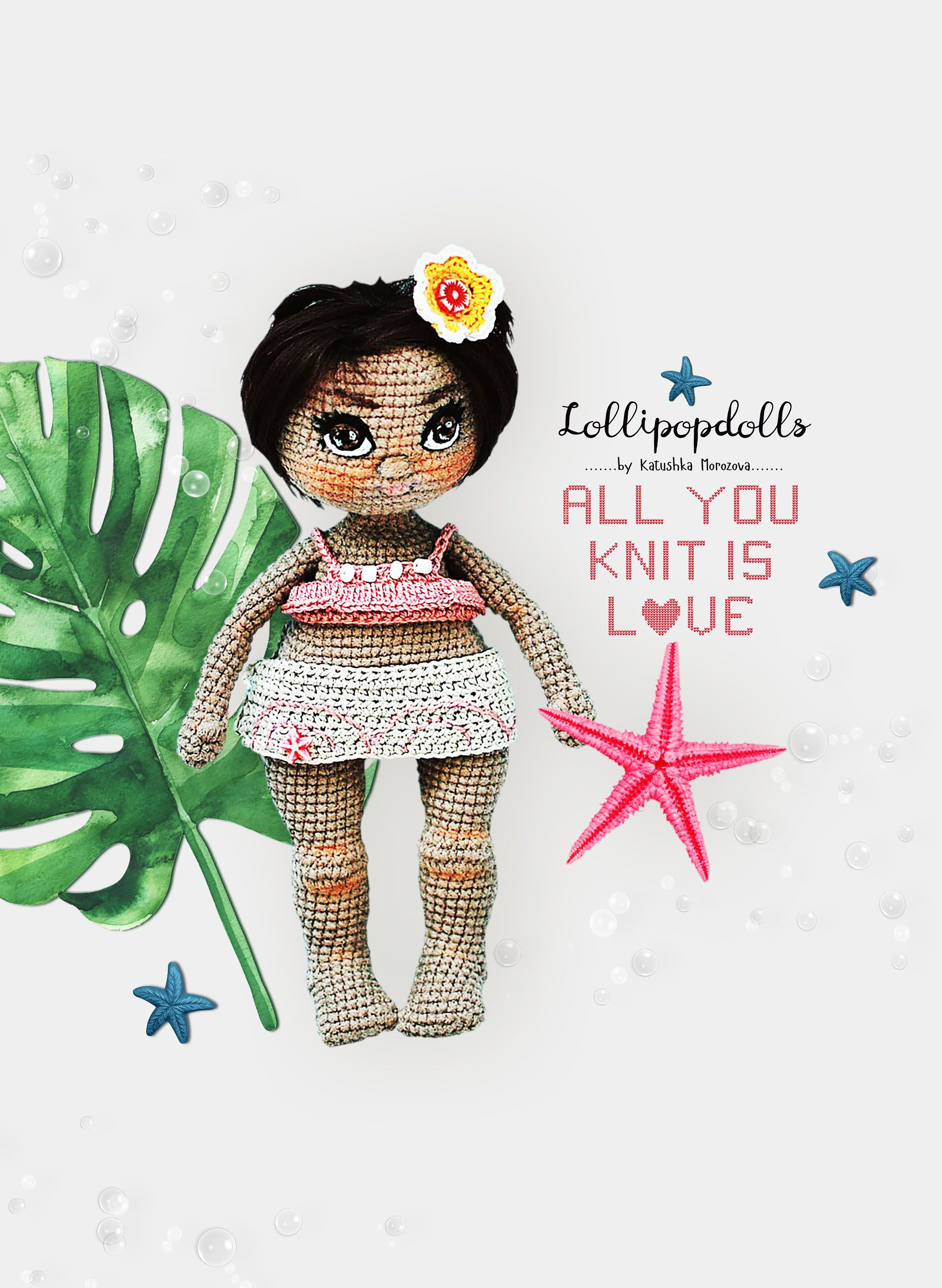 English | PDF | Crochet Doll Pattern | Amigurumi Doll | stuffed doll pattern Katushka Morozova  #instructionstodollpatterns