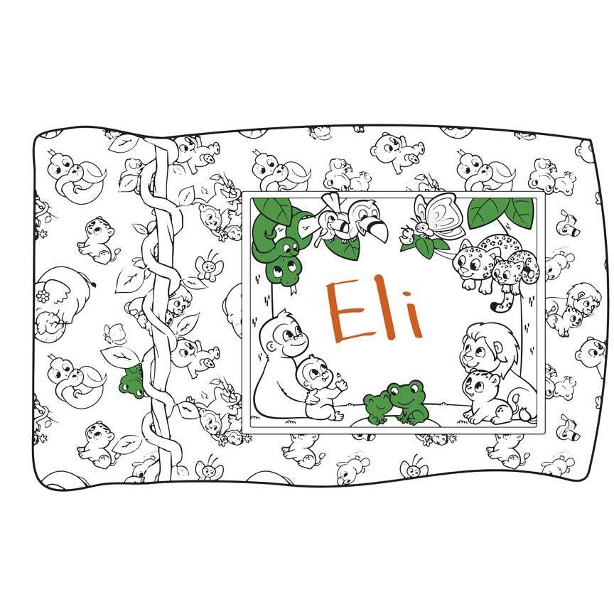 Crayola Coloring Pillow Panel Jungle
