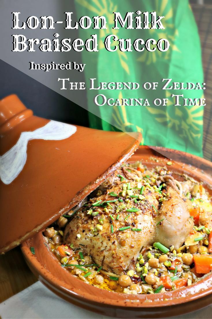 Legend of zelda lon lon braised cucco bebida y comida for zeldamonth milk braised chicken in a tagine with carrots harissa powder forumfinder Choice Image