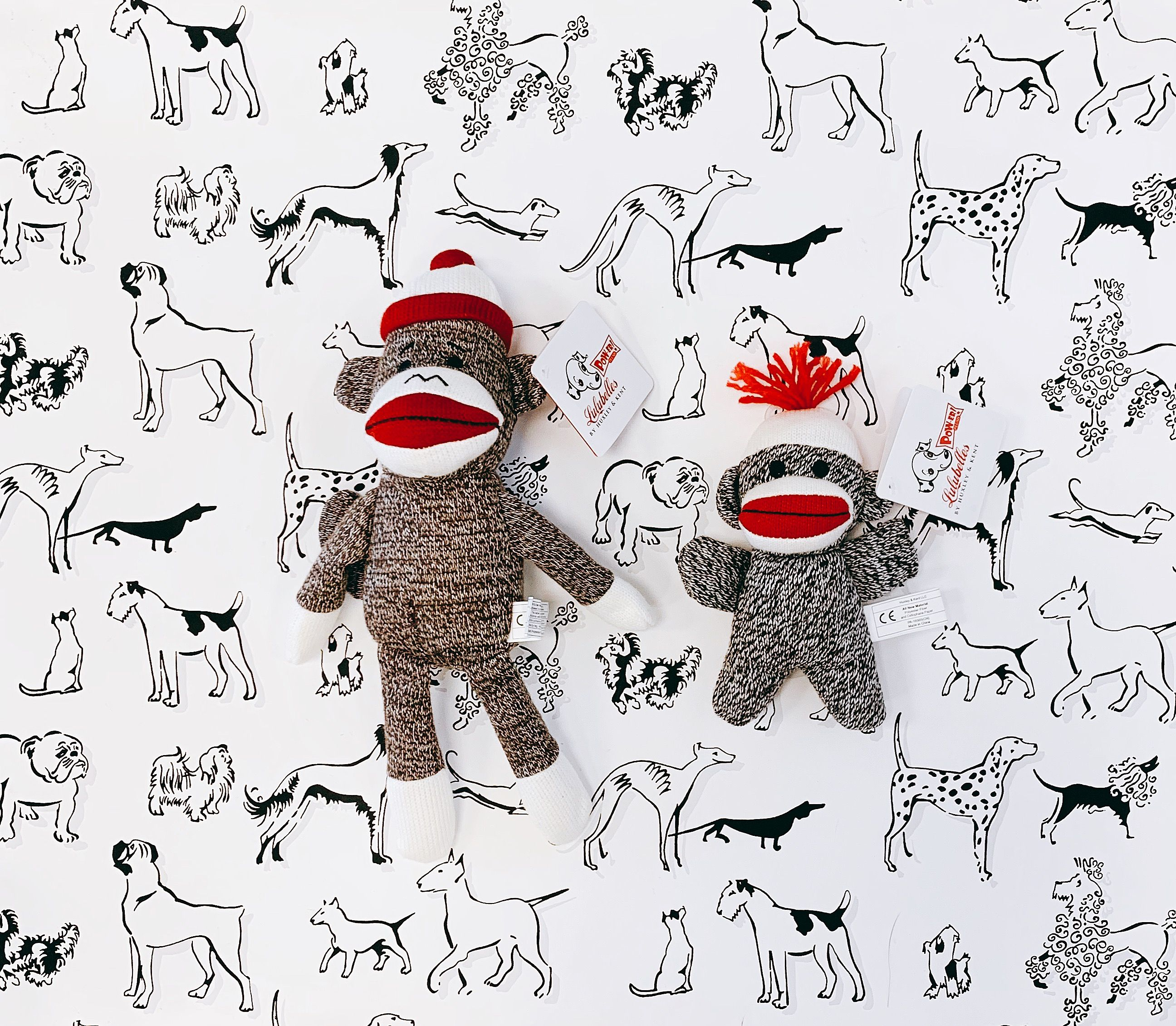We have the cutest little sock monkeys in the shop right