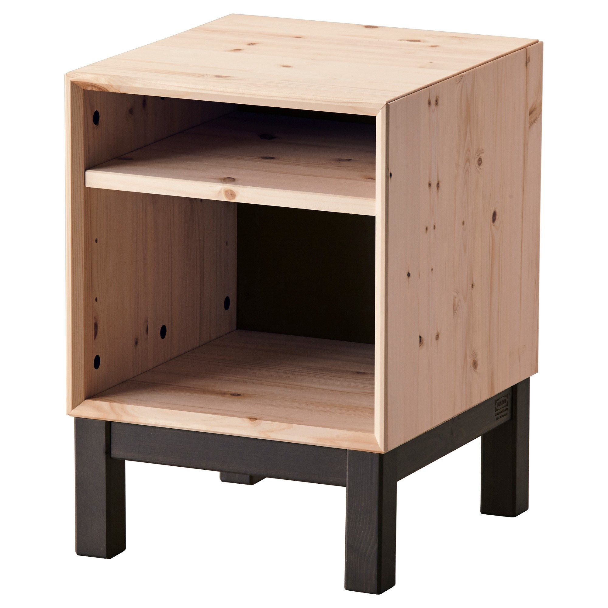 NORNAS komodin çam-gri 37x40 cm | IKEA Yatak Odaları