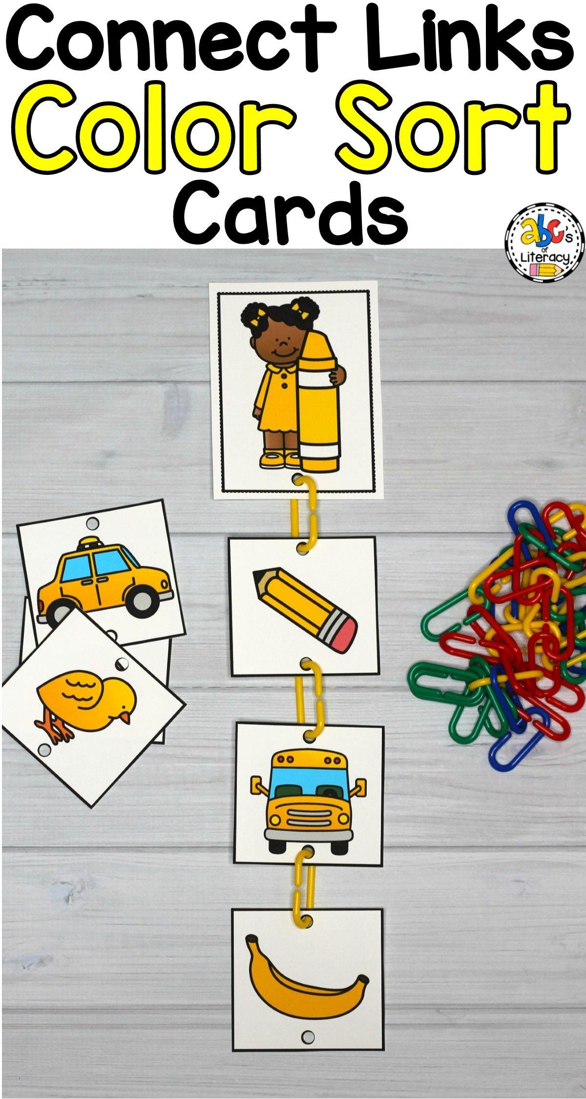 Connect Links Color Sort Task Cards