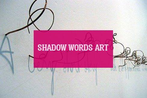 shadow words art