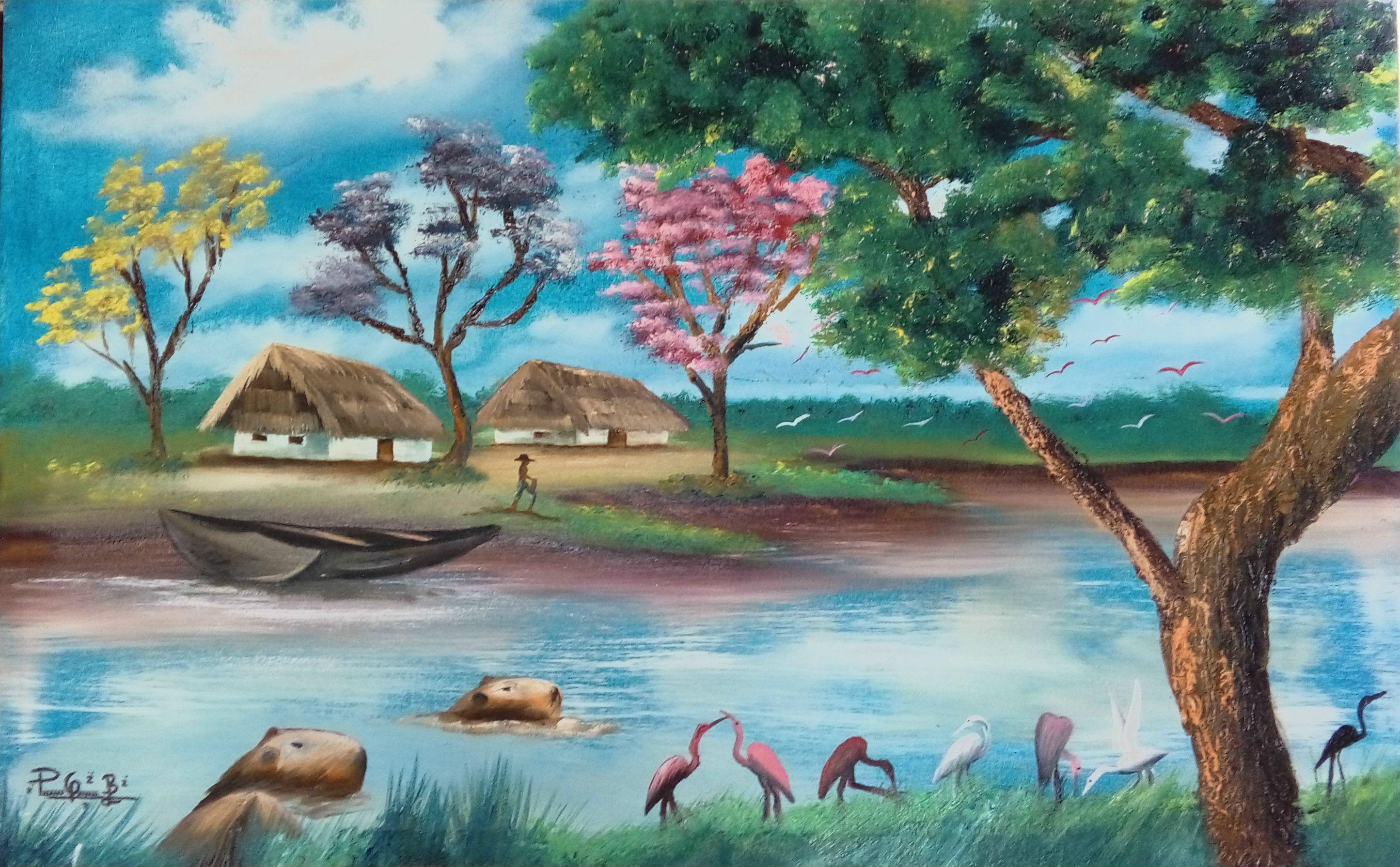 Paisajes Animales Y Arte De Mi Llano Paisajes Llaneros Dibujos Paisajes