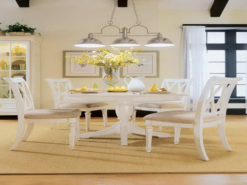 Dining Room Round White Kitchen Table Sets Counter Height Dining Pleasing Cream Dining Room Furniture Design Inspiration