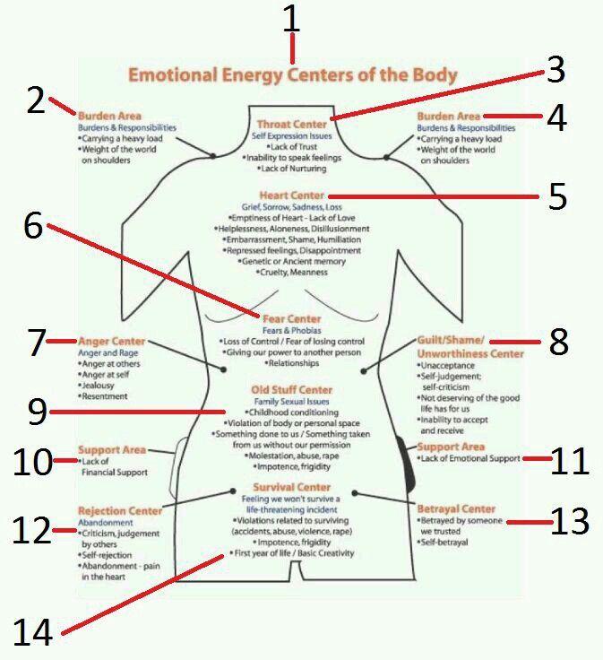 Emotional centers in 2020 | Energy medicine, Energy ...