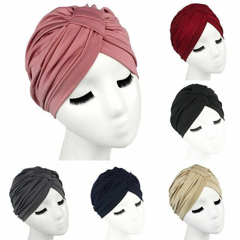 Indian Women Wrap Scarf Cap Hat Head Headwear Hijab Turban Stretchy Muslim Chemo
